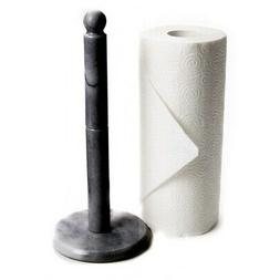 Fox Run Craftsmen Marble Paper Towel Holder in Black