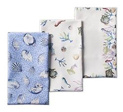 Maison d' Hermine Marine 100% Cotton Set of 3 Kitchen Towels