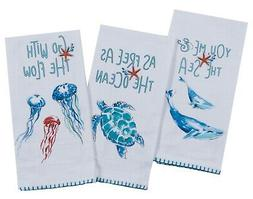Maritime Whales Sea Turtles Jellyfish Flour Sack Kitchen Dis