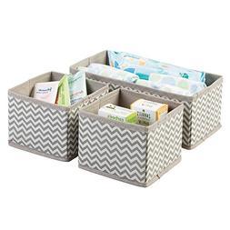 mDesign Soft Fabric Dresser Drawer and Closet Chevron Storag