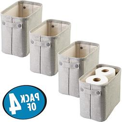 mdesign cotton fabric bathroom storage