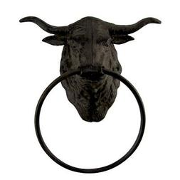 Metal Wall Mount Steer Kitchen Bath Towel Ring Hanger Holder