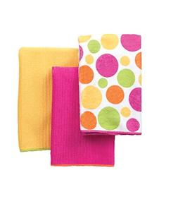 Ritz Microfiber 16 by 19-Inch Polka Dot and 2 Solid Kitchen