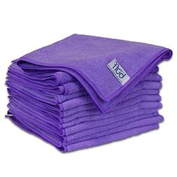 "Buff Microfiber Cleaning Cloth | Purple  | Size 16"" x 16"" 