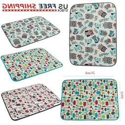 Microfiber Dish Drying Mat 18''x24'' Tea Towel For Kitchen D