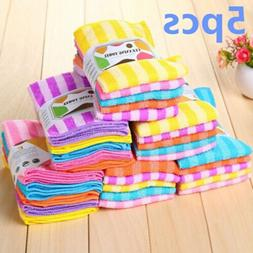 Microfiber Dishcloth Square Kitchen Washing Cleaning Towel D