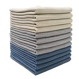 Polyte Premium Microfiber Kitchen Towel Waffle Weave, 16 x 2