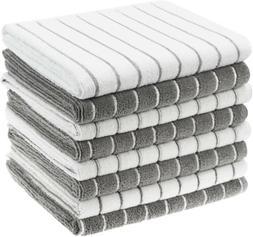 Gryeer Microfiber Kitchen Towels, Stripe Designed, Soft, FRE