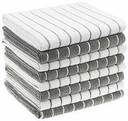 Gryeer Microfiber Kitchen Towels, Stripe Designed, Soft and