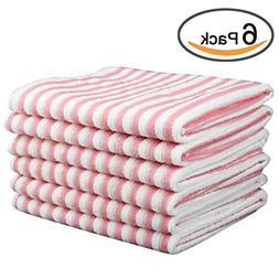 Kleanner Microfiber Striped Kitchen Dish Towel Tea Towel, Mu