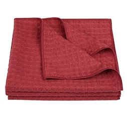 Lifaith Microfiber Thick Waffle Weave Kitchen Towels Dish Cl