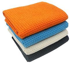 KLEIESH Microfiber Waffle Weave Kitchen Drying Towels 4 Pack