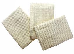 KLEIESH Microfiber Waffle Weave Kitchen Drying Towels 3 Pack