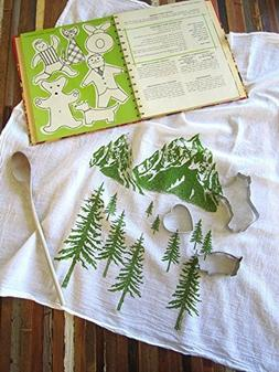 Oh, Little Rabbit Mountain Screen Printed Flour Sack Kitchen