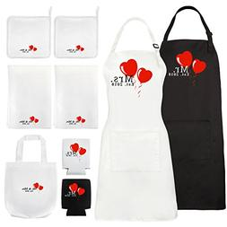 Mr. and Mrs. Aprons 2018 Kitchen Wedding Gift Set Or Bridal