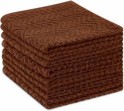 8 Pack Kitchen Dish Towels, 100% Cotton, 12 x 12 Inch Dish