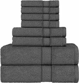 NEW Utopia Towels 8 Piece Towel Set,2 Bath Towels, 2 Hand To