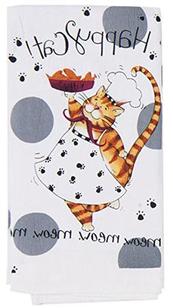 NEW - Kay Dee Designs Happy Cat Kitchen Flour Sack Towel