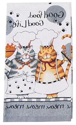 NEW - Kay Dee Designs Happy Cat Kitchen Terry Towel