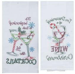New Kay Dee Designs 2 Piece Christmas Decor Kitchen Towel Se