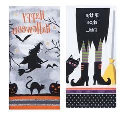 New Kay Dee Designs 2 Piece Halloween Decor Kitchen Towel Se