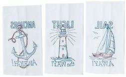 New Kay Dee Designs 3 Piece Embroidered Kitchen Towel Set, N