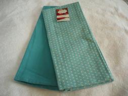 New Kitchen Tea Towels Set of 2-100% Cotton Aqua & Aqua Whit