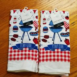 new kitchen towels set of 2 red