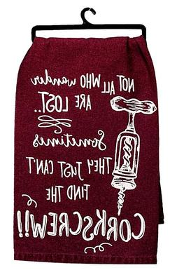 New~QTY  Corkscrew Kay Dee Designs Flour Sack Dish/Tea Towel