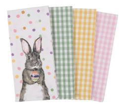 * NEW * Set of 4 Spring Easter Bunny Egg / Gingham Kitchen D