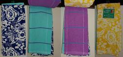 NEW W/ TAG Celia Set of 4 Kitchen Towels Pioneer Woman Yello