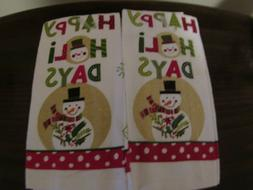 "NWT-Lot of  2  Matching Kitchen Towels~Cotton~14"" x 24"" ~Be"