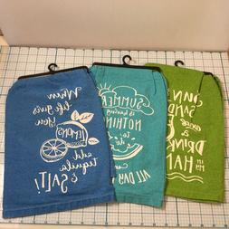 NWT   KAY DEE DESIGNS Summer Fun Kitchen Flour Sack Towels -