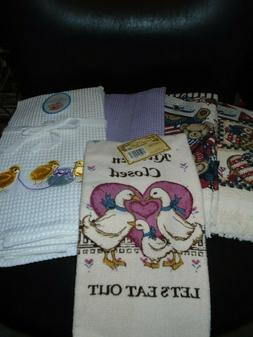NWT COTTON KITCHEN TOWELS YOU CHOOSE DESIGN EASTER/SOLID/4TH