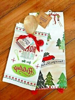 """NWT DII """"Home Made for the Holidays"""" Wooden Spoon 2 Kitchen"""