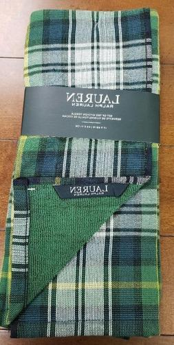 NWT Ralph Lauren Home Set of 2 Kitchen Towels Green Blue Pla