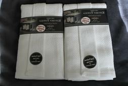 nwt kitchen towels two 2 packs white