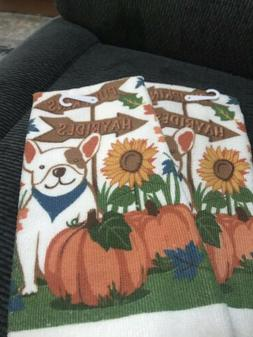 NWT~Lot of Two Fall / Autumn  Kitchen Towels~BLESS THIS HOME