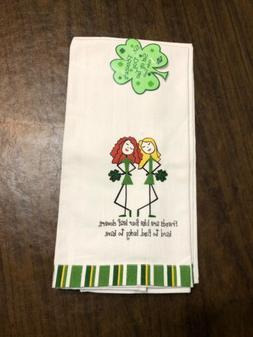 """NWT Pair 2 RITZ St Patricks Day """"FRIENDS ARE LIKE 4 LEAF C"""