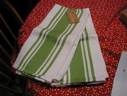 NWT KAF HOME TWO KITCHEN OVERSIZE TOWEL SET BASKET WEAVE GRE