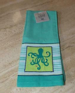 Octopus kitchen towel from DII; cotton; 28x18 aqua, green, w