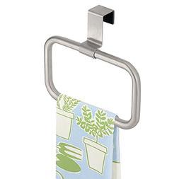 mDesign Modern Kitchen Over Cabinet Square Towel Holder - Ha