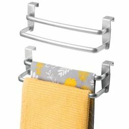 Steel Tea Holder... mDesign Kitchen Over the Cabinet Double Dish Towel Bar