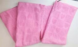 Pair of Kitchen Bathroom Hand Towels 2 Valentine's Pink with