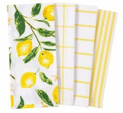 Kaf Home Pantry Lemons All Over Kitchen Dish Towel Set Of 4,