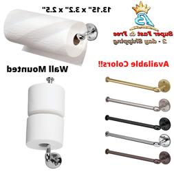 Paper Towel Holder Wall Mount Kitchen Tissue Metal Roll Clin