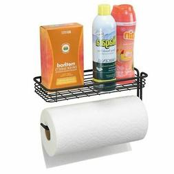 paper towel holder with shelf for laundry