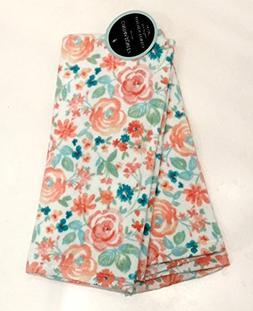 Cynthia Rowley Pastel Floral Garden Kitchen Towel Set   100%