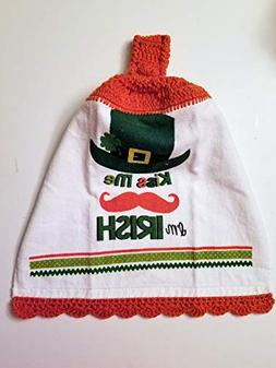 St Patricks Day Hanging Kitchen Towel with Decorative Bottom