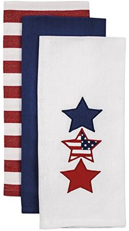 Ladelle Patriotic Kitchen Towel Set - One Each White with St